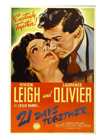 21 Days Together (Aka 21 Days), Vivien Leigh, Laurence Olivier, 1940--Photo