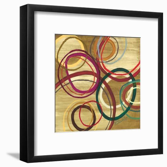 21 Tuesday I - Bright Circle Abstract-Jeni Lee-Framed Premium Giclee Print