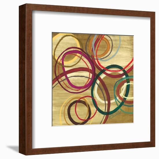21 Tuesday I - Bright Circle Abstract-Jeni Lee-Framed Premium Giclee Print