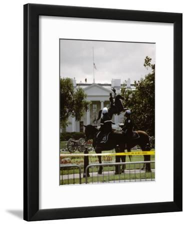 24 Hours after the 9/11 Attacks the White House is on Security Alert-Stephen St^ John-Framed Photographic Print