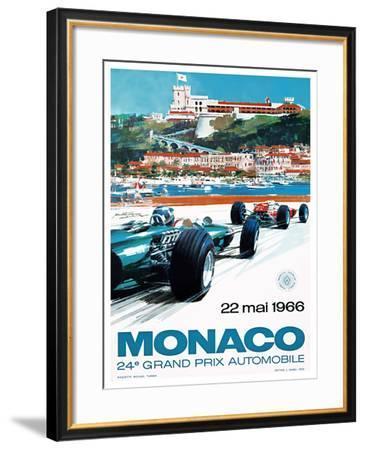24e Grand Prix, 1966, Monaco-MICHAEL TURNER-Framed Giclee Print