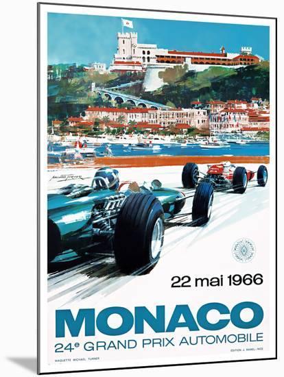 24e Grand Prix, 1966, Monaco-MICHAEL TURNER-Mounted Giclee Print