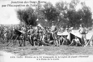 24th Company of the French Foreign Legion, Taza, Morocco, 1904