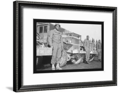 24th Infantry Waiting to Advance on Japanese--Framed Art Print