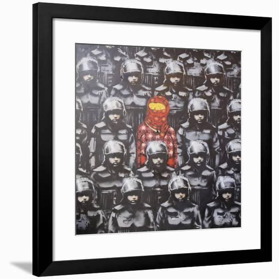 24th Street #2-Banksy-Framed Giclee Print
