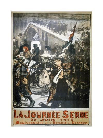 25 June 1916 - Serbia Day, French World War I Poster, 1916-Charles Fouqueray-Giclee Print