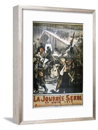 25 June 1916 - Serbia Day, French World War I Poster, 1916-Charles Fouqueray-Framed Giclee Print
