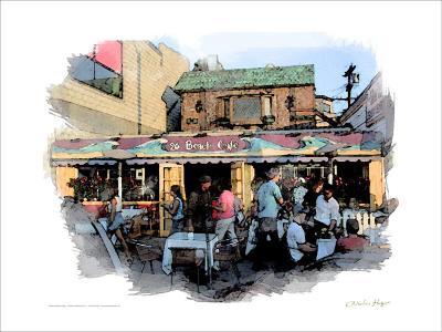 26 Beach Cafe, Venice Beach, California-Nicolas Hugo-Giclee Print