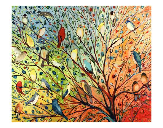 27 Birds-Jennifer Lommers-Art Print