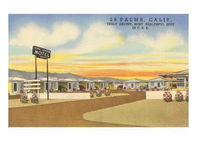 29 Palms Civic Center Vintage Motel--Art Print