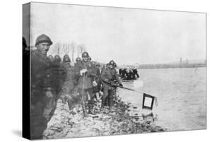 2nd Moroccan Division Bathes its Flags in the Rhine, Huningue, Alsace, France, 21 November 1918