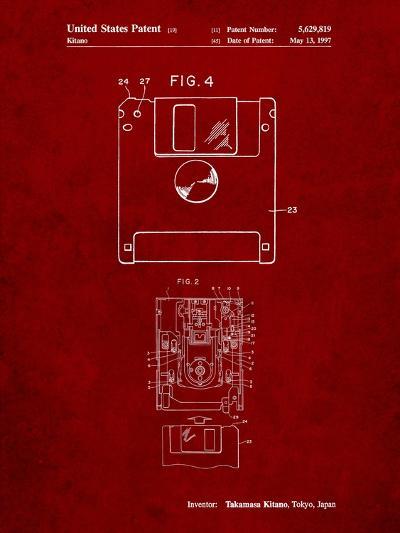 3 1/2 Inch Floppy Disk Patent-Cole Borders-Art Print
