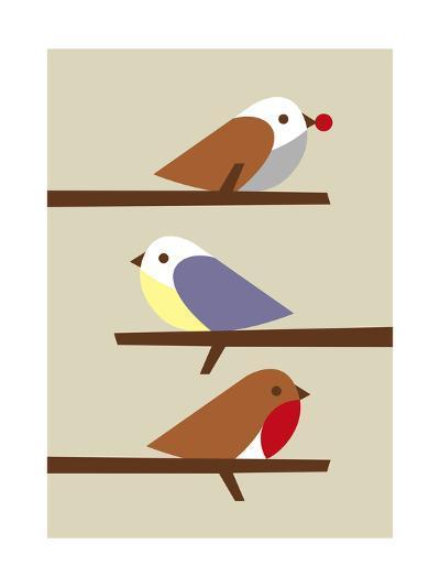 3 Birds-Dicky Bird-Giclee Print