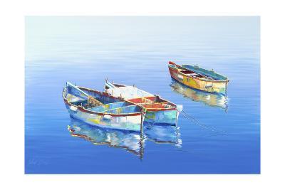 3 Boats Blue 1-Edward Park-Giclee Print