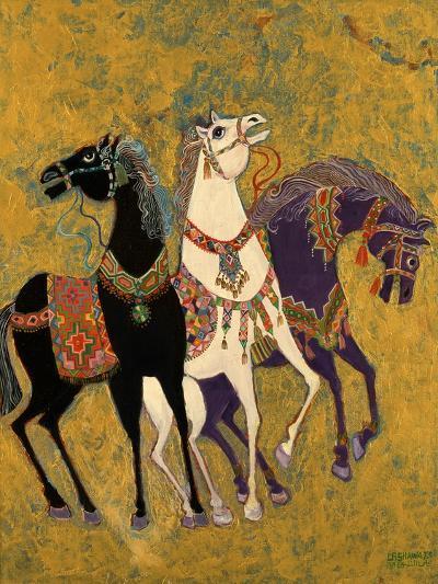 3 Horses, 1975-Laila Shawa-Giclee Print