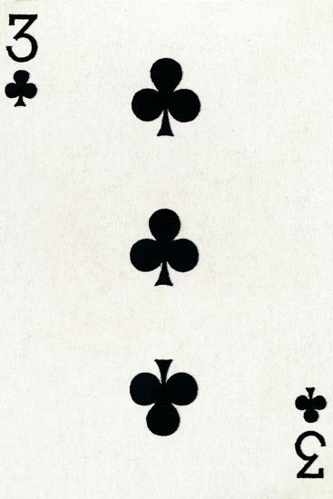 3 of Clubs from a deck of Goodall & Son Ltd. playing cards, c1940-Unknown-Giclee Print