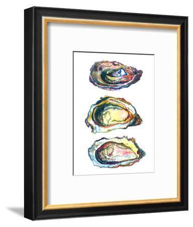 3 Oyster Shells-T.J. Heiser-Framed Art Print