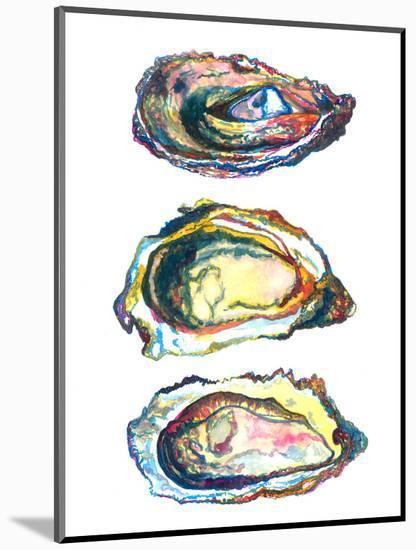 3 Oyster Shells-T.J. Heiser-Mounted Art Print