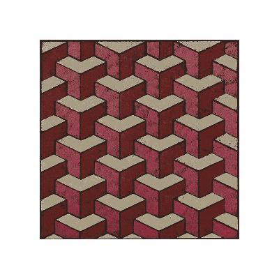 3 Part Tumbling Block (Red)-Susan Clickner-Giclee Print