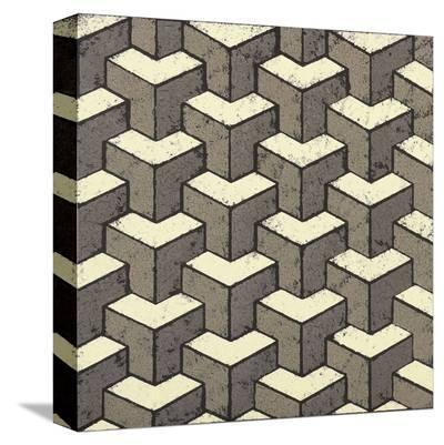 3 Part Tumbling Block-Susan Clickner-Stretched Canvas Print