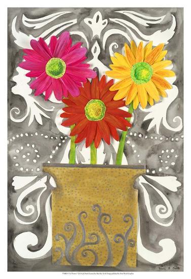 3 Tin Flowers-Kaeli Smith-Art Print
