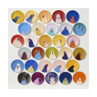 30 Chickens, 2014-Holly Frean-Giclee Print
