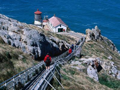 302 Steps Lead to Point Reyes Lighthouse-Judy Bellah-Photographic Print