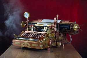 Steampunk Typewriter by 3355m