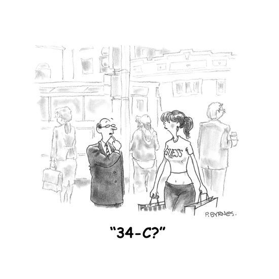 """34-C?"" - Cartoon-Pat Byrnes-Premium Giclee Print"