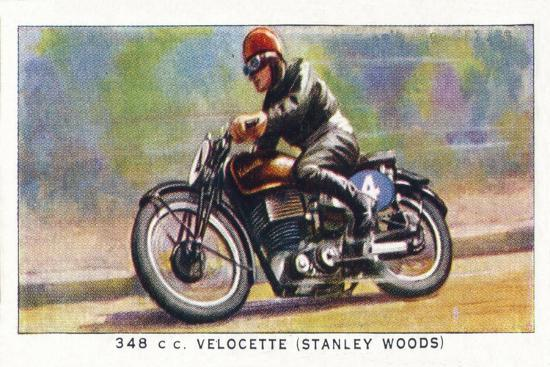 '348 C.C. Velocette (Stanley Woods)', 1938-Unknown-Giclee Print