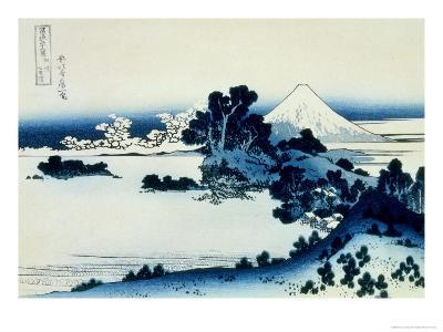 36 Views of Mount Fuji, no. 13: Shichiri Beach in Sagami Province-Katsushika Hokusai-Giclee Print