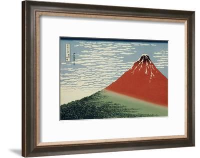 36 Views of Mount Fuji, no. 2: Mount Fuji in Clear Weather (Red Fuji)-Katsushika Hokusai-Framed Giclee Print