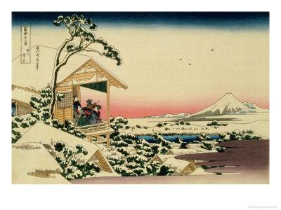hokusai katsushika No11 Outin Views Of Mount Fuji View On Morning After Snow At Koishikawa Luggage Tags