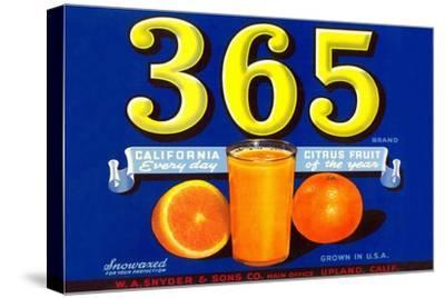 365 Orange Crate Label