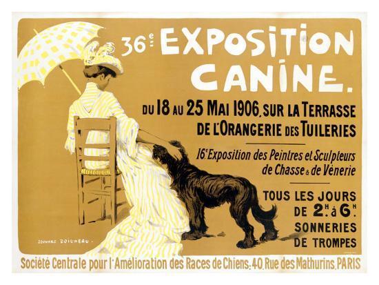 36th Exposition Canine de Briard-Edouard Doigneau-Giclee Print