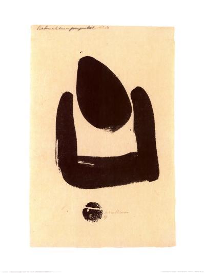 37 Pollination Symbol I (Cista), c.1937-Julius Bissier-Art Print