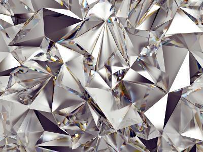 3D Abstract Crystal Clear Background Texture-wacomka-Art Print
