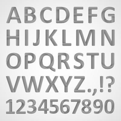 3D Font- theseamuss-Art Print