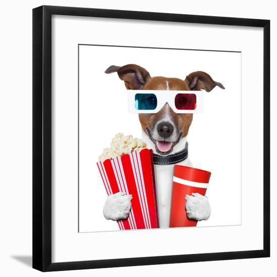 3D Glasses Movie Popcorn Dog-Javier Brosch-Framed Photographic Print