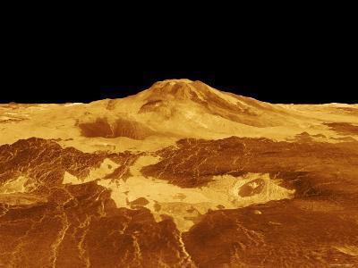 3D Perspective View of Maat Mons on Venus-Stocktrek Images-Photographic Print