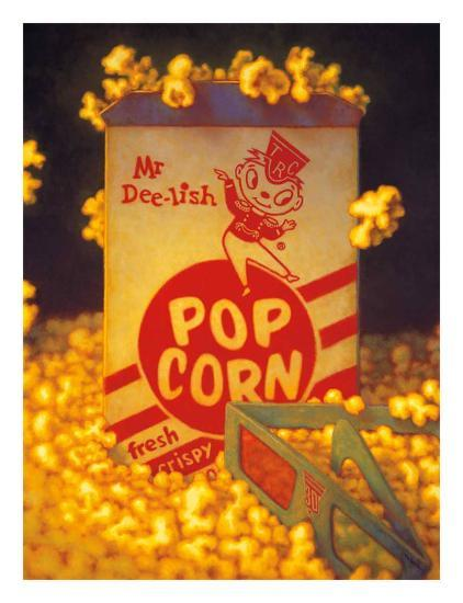 3D Popcorn-TR Colletta-Art Print