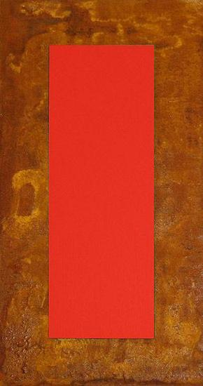 3D Rot auf Rost auf Holz-J?rgen Freund-Limited Edition
