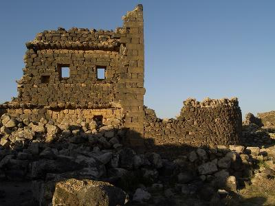 3rd House at Umm El-Jimal, Built During Byzantine Period, 5th-6th C--Photo