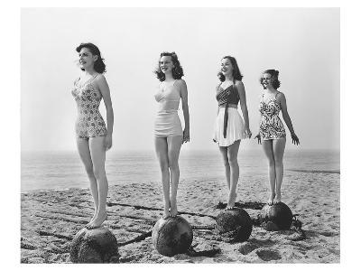 4 Girls Standing Tall--Art Print