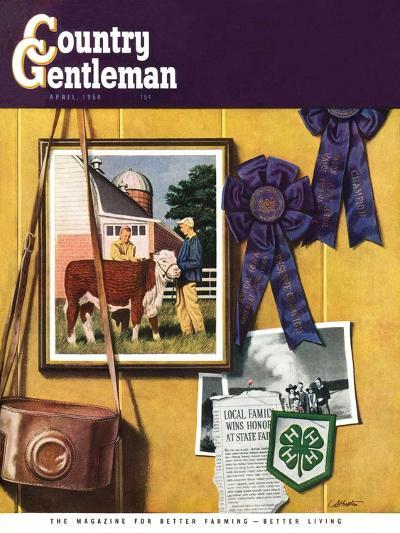 """4-H Momentos,"" Country Gentleman Cover, April 1, 1950-John Atherton-Giclee Print"