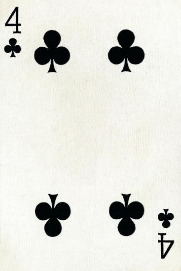4 of Clubs from a deck of Goodall & Son Ltd. playing cards, c1940-Unknown-Giclee Print