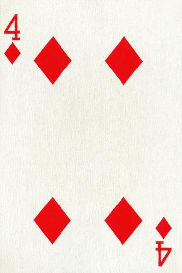 4 of Diamonds from a deck of Goodall & Son Ltd. playing cards, c1940-Unknown-Giclee Print