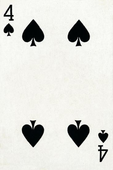 4 of Spades from a deck of Goodall & Son Ltd. playing cards, c1940-Unknown-Giclee Print