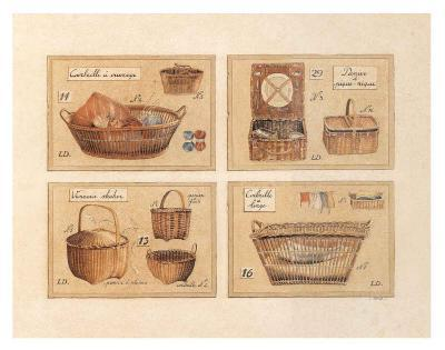 4 Paniers (Pique-Nique)-Laurence David-Art Print