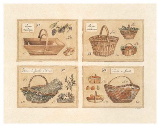 4 Paniers (Vendange)-Laurence David-Art Print